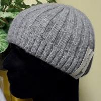 Mütze klassisch - in grau und schwarz,