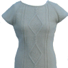 Strickkleid weiß