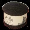 Alpaka-Socken-Wolle taupe